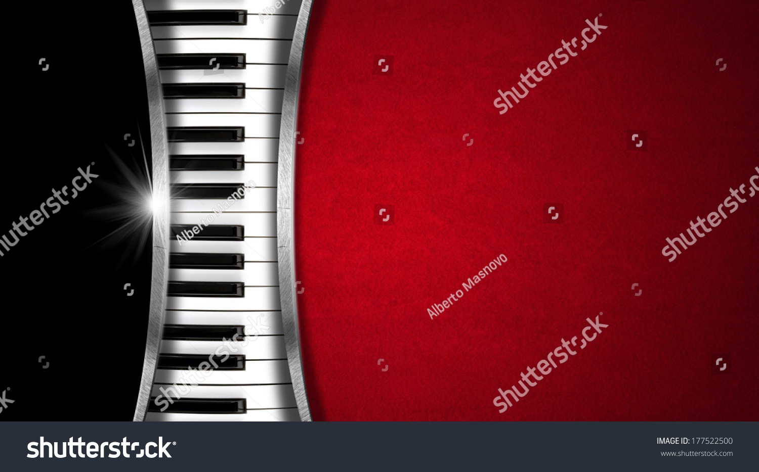 Music vintage business card piano keyboard stock illustration music vintage business card piano keyboard on black and red velvet background and metal stripes magicingreecefo Images