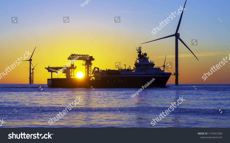 Beautiful sunset at the North Sea #1775457383