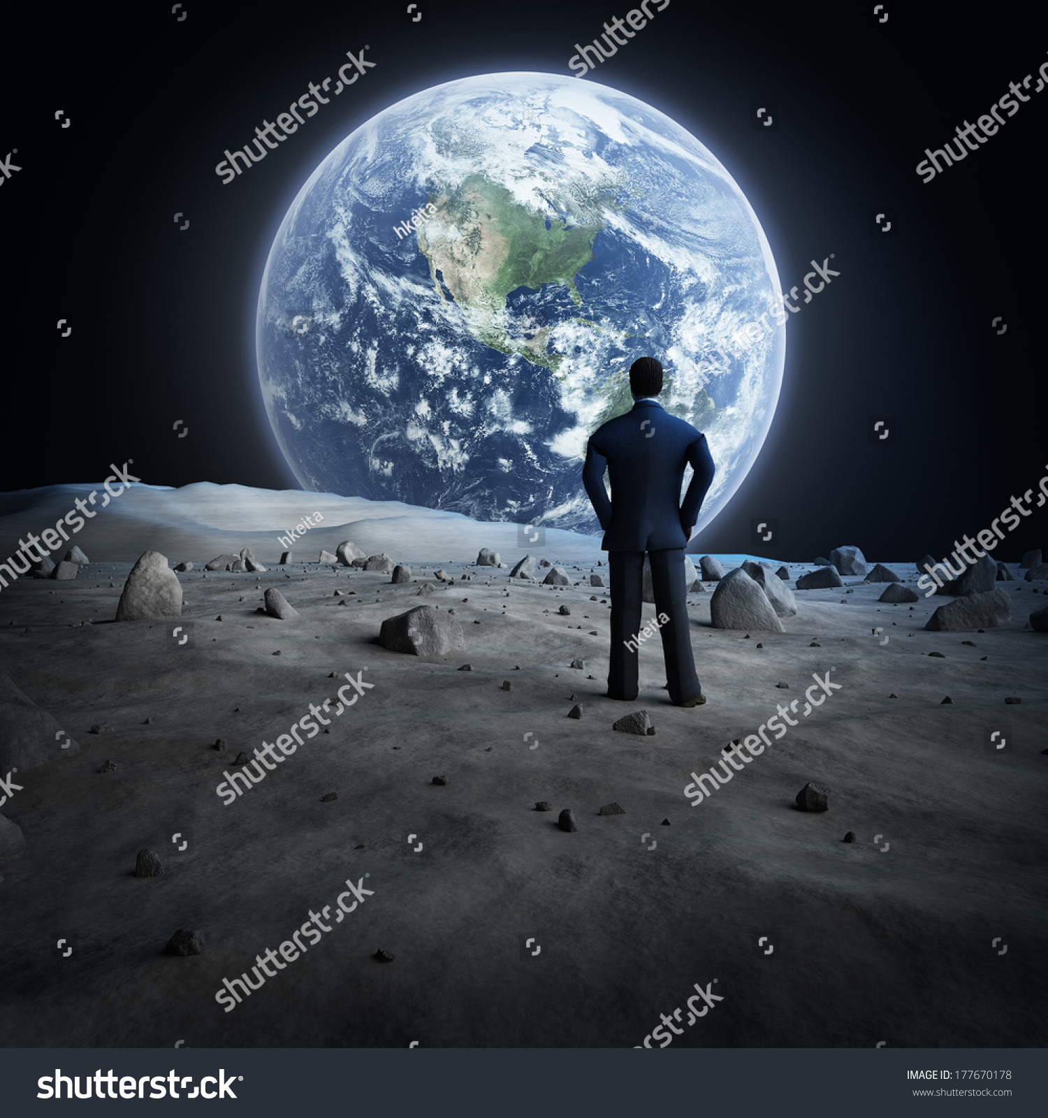 looking at drawing the moon from earth - photo #1