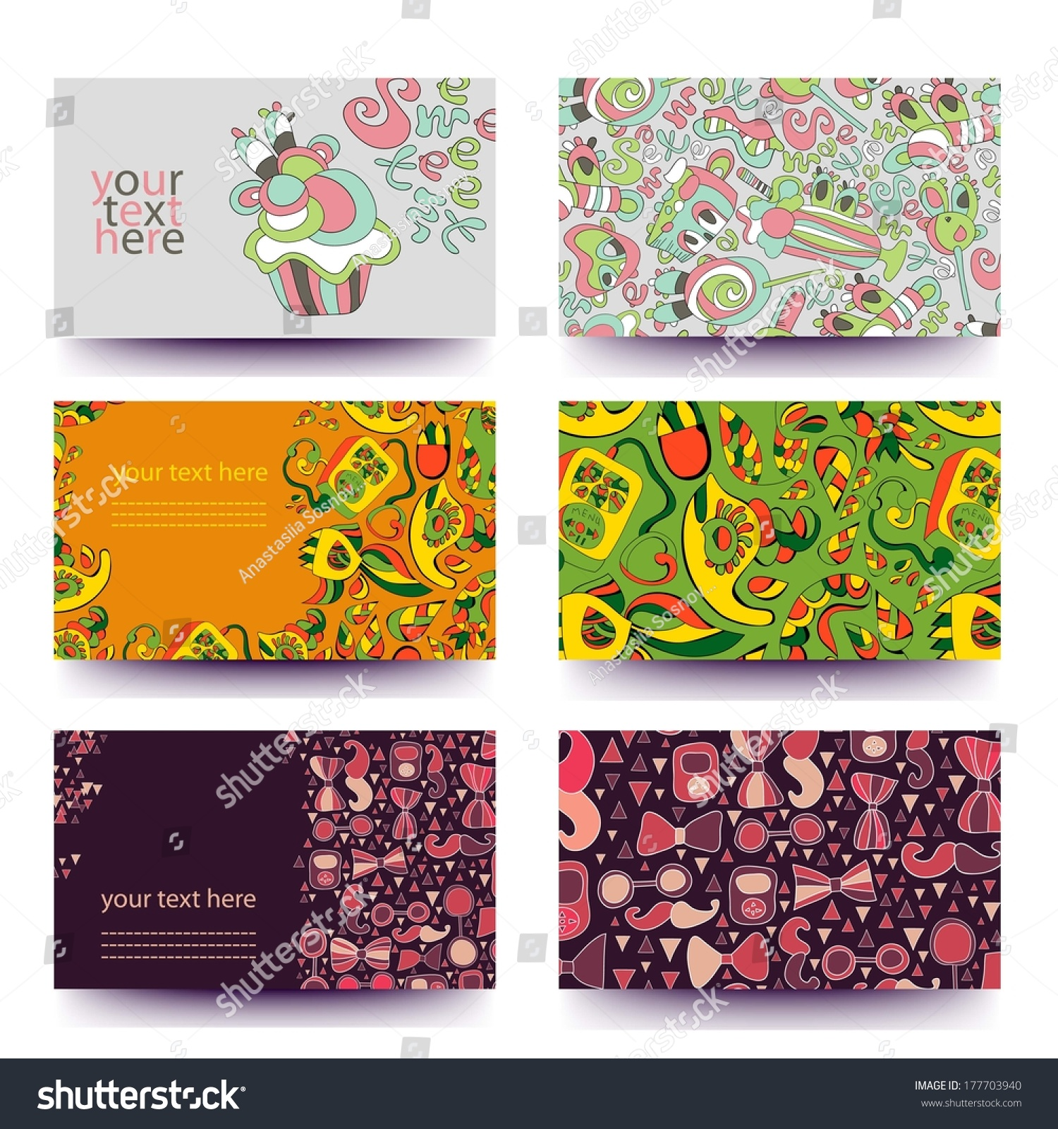 Colorful business card templatevector set bannersbanners stock colorful business card templatector set bannersnners for business cards labels magicingreecefo Gallery