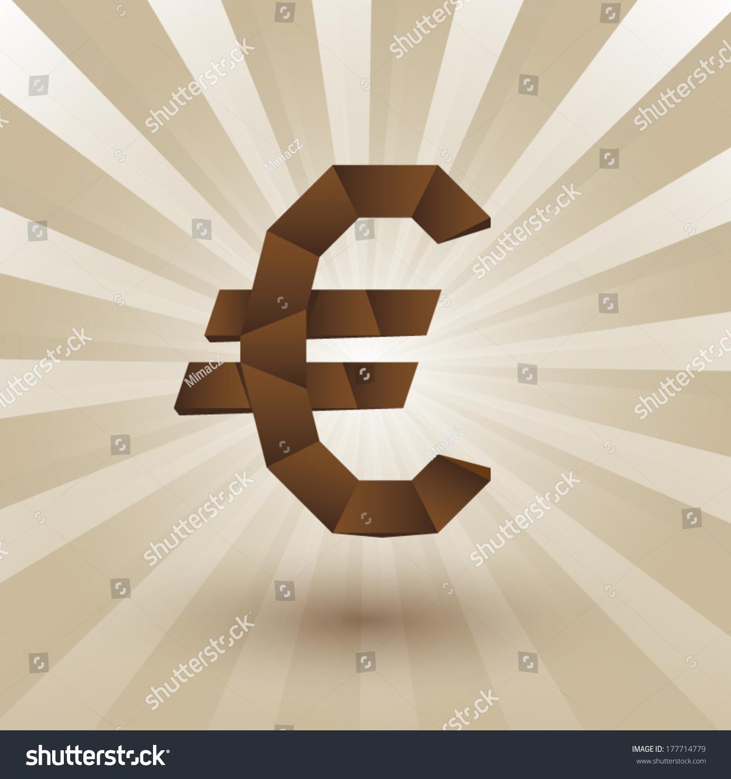 Money symbol euro origami style stock vector 177714779 shutterstock money symbol euro origami style buycottarizona Gallery