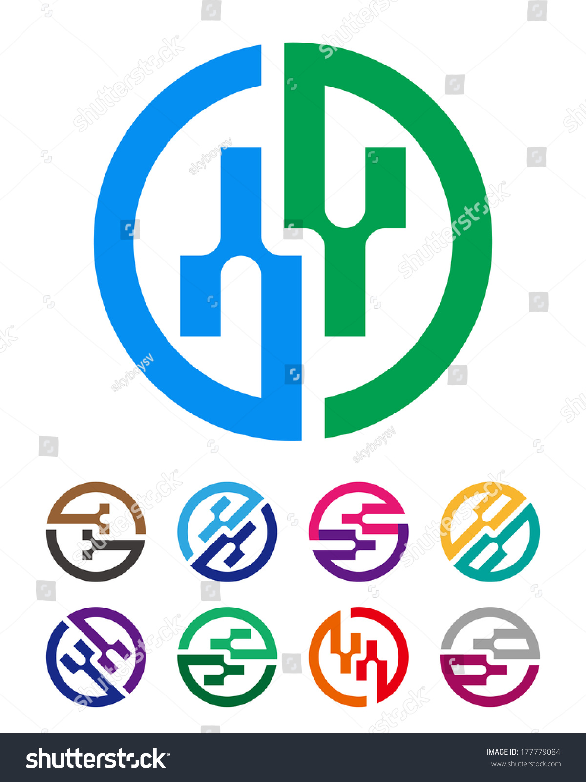 Abstract Round Logo Element G B Stock Vector Royalty Free Electronic Integrated Circuit Chip Image 177779084 Shutterstock