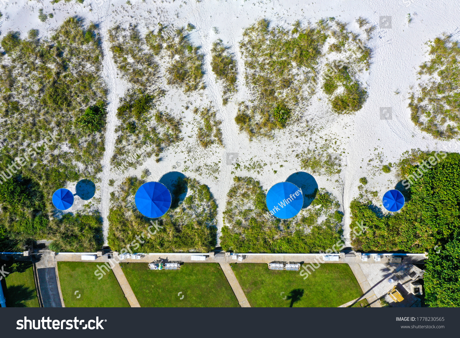 stock-photo-an-aerial-view-of-four-blue-