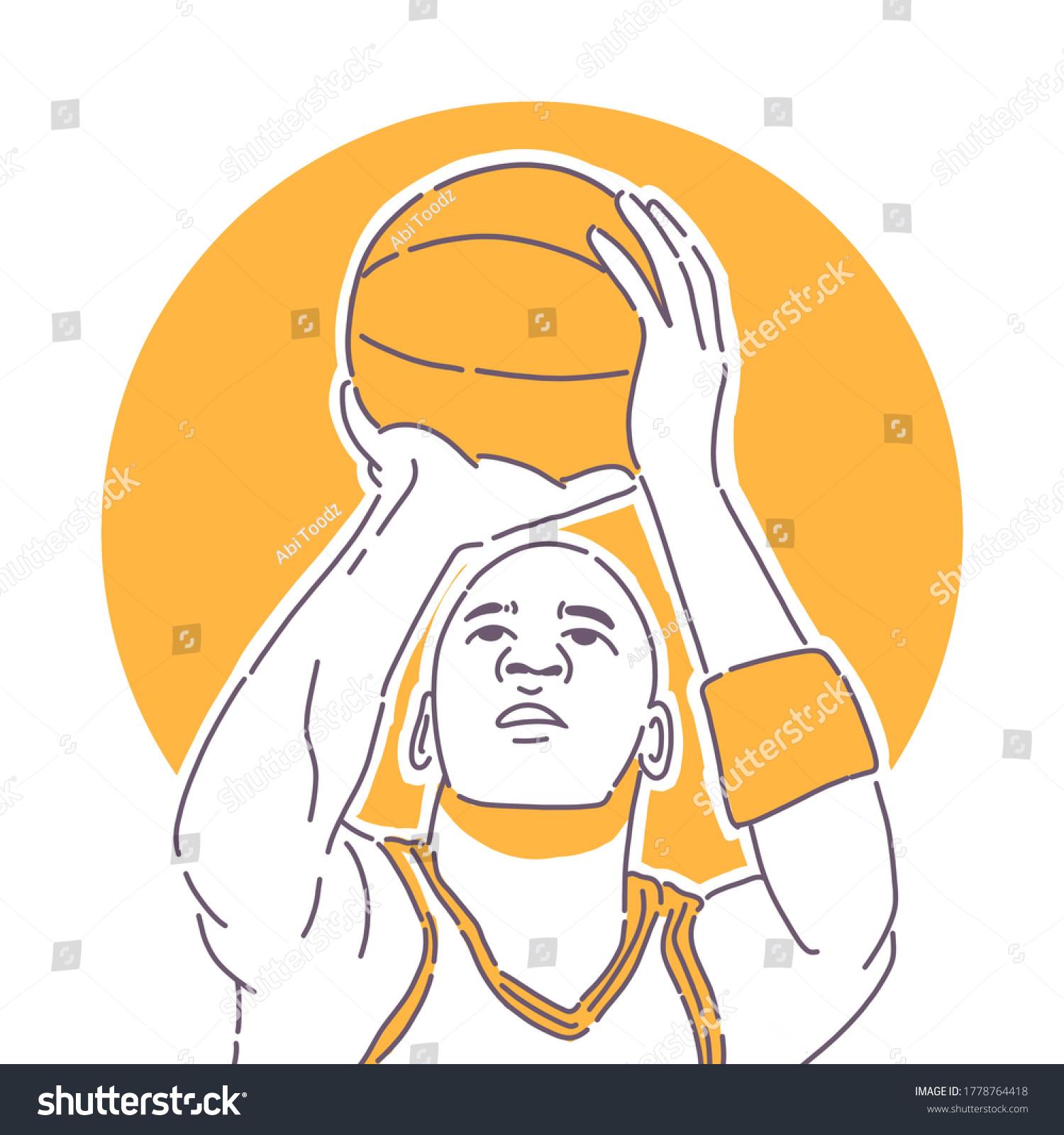 Michael Jordan Basket Ball Illustration Suitable Wallpaper Murals