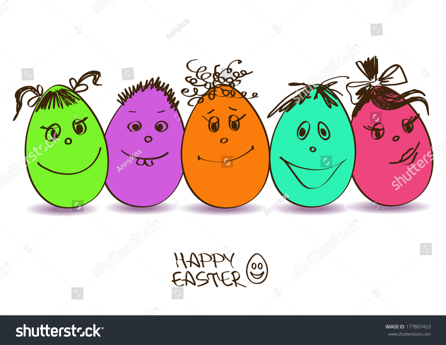 Easter greeting card funny colorful cartoon stock vector 177887453 easter greeting card funny colorful cartoon stock vector 177887453 shutterstock kristyandbryce Choice Image