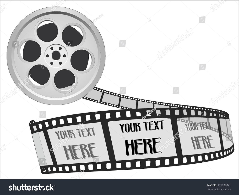 55mm Movie Film Strip Cinema Film Stock Vector 177939041 ...