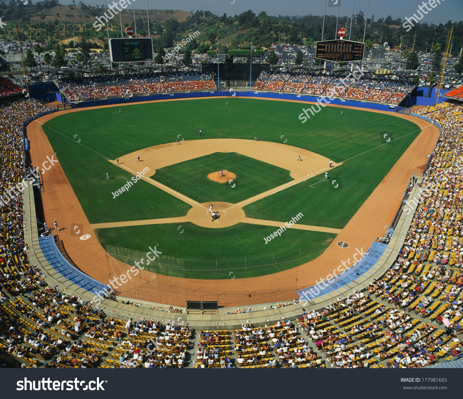 This dodger stadium this game played stock photo 177981665 this is dodger stadium this game was played by the la dodgers and the houston buycottarizona Image collections