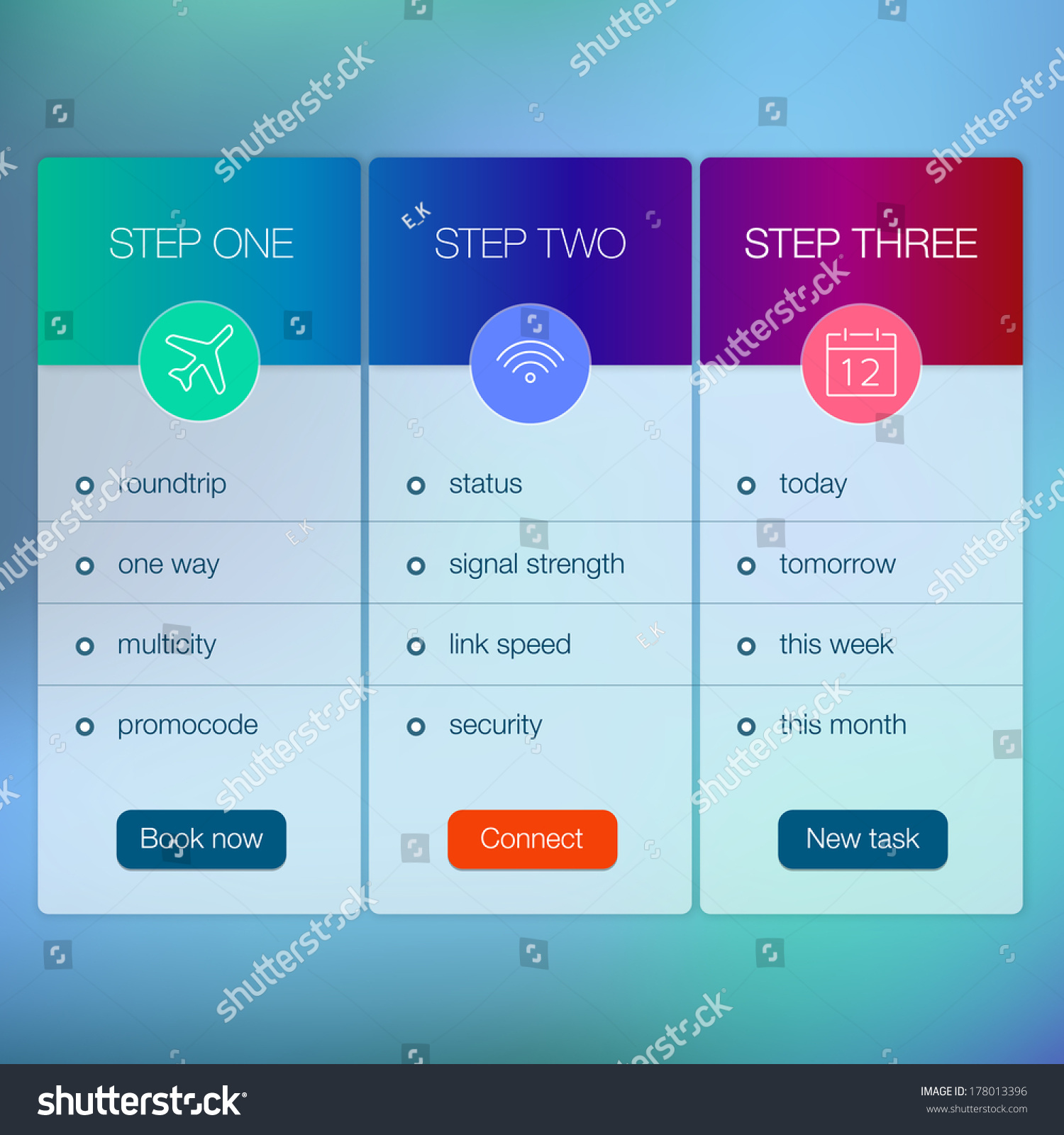 Price List Design Template. it service vector banner. can be used ...