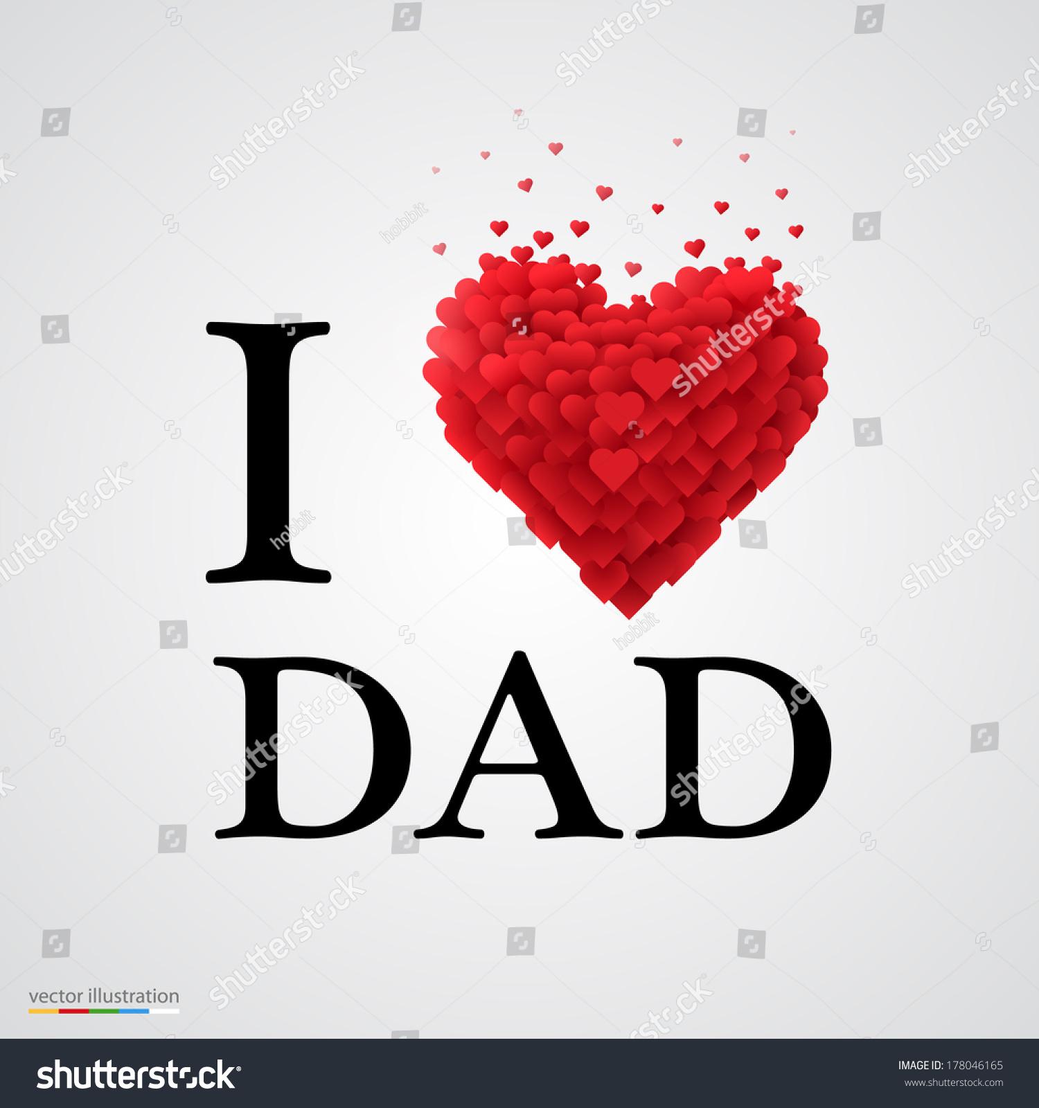 love dad font type heart sign stock vector 178046165 shutterstock. Black Bedroom Furniture Sets. Home Design Ideas