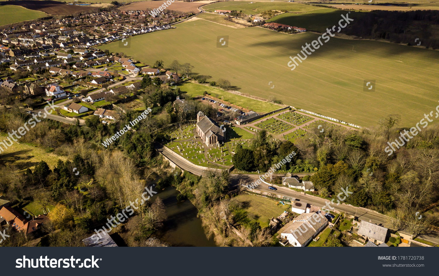 East Linton is a village in East Lothian, Scotland on the River Tyne east of Haddington, UK. #1781720738