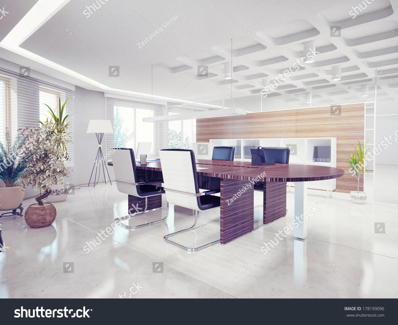 Modern office interior design concept stock photo for Modern office interior design concepts