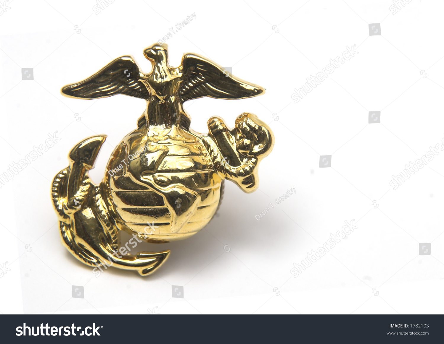 Gold Eagle Globe Anchor Isolated On Stock Photo 1782103 - Shutterstock