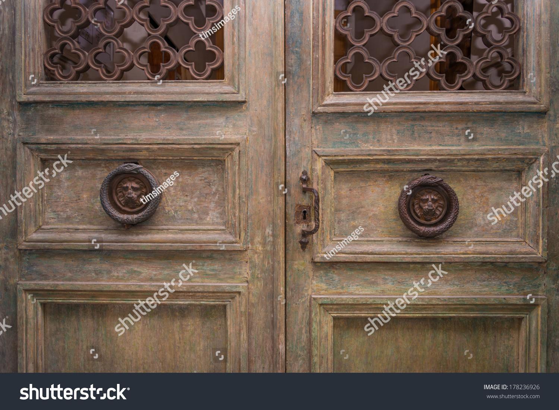 Lion\u0027s head and snake Door knobs Isle Saint Louis Paris France & Lions Head Snake Door Knobs Isle Stock Photo 178236926 - Shutterstock