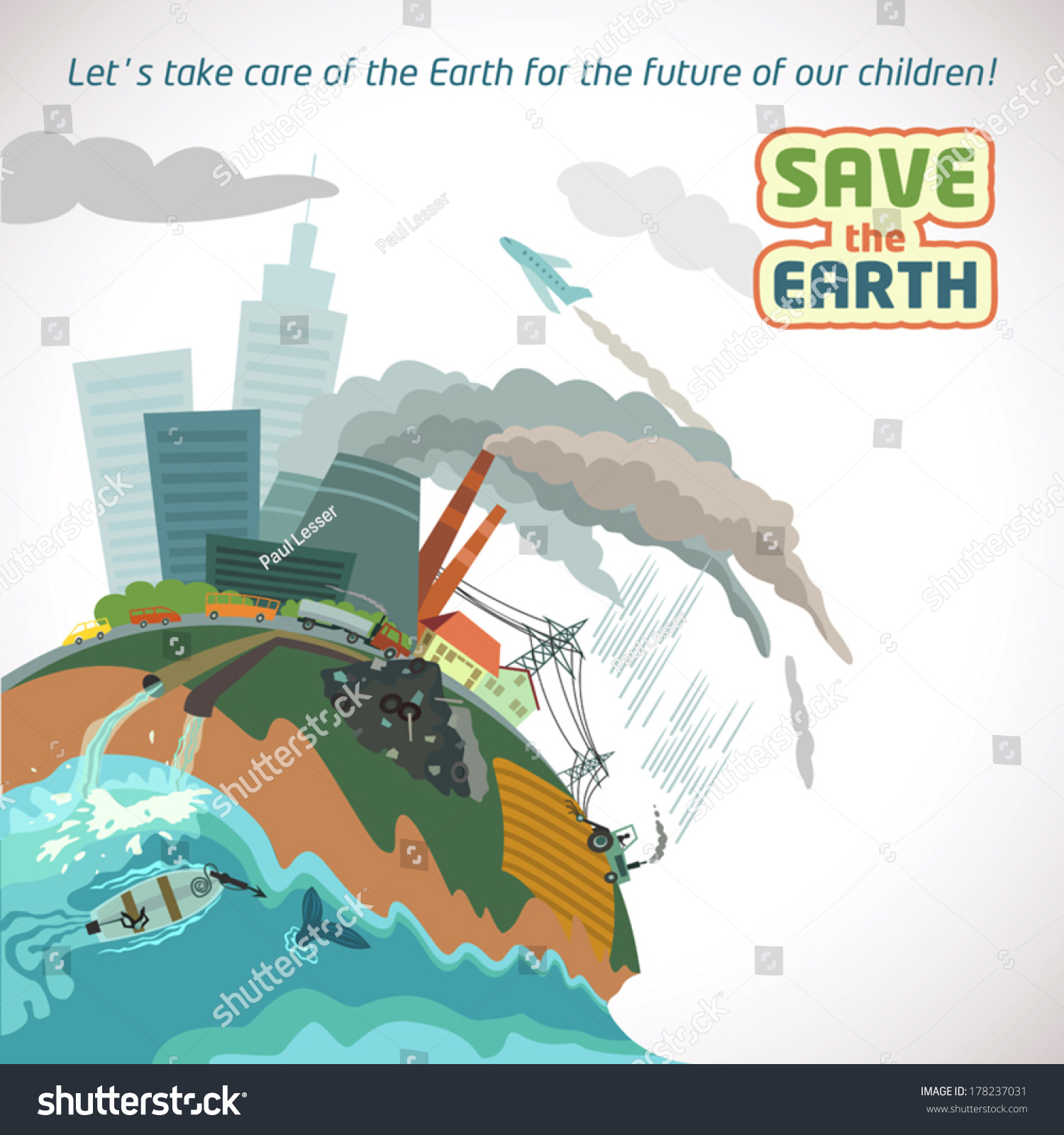 Poster design on save earth - Save The Earth Eco Poster