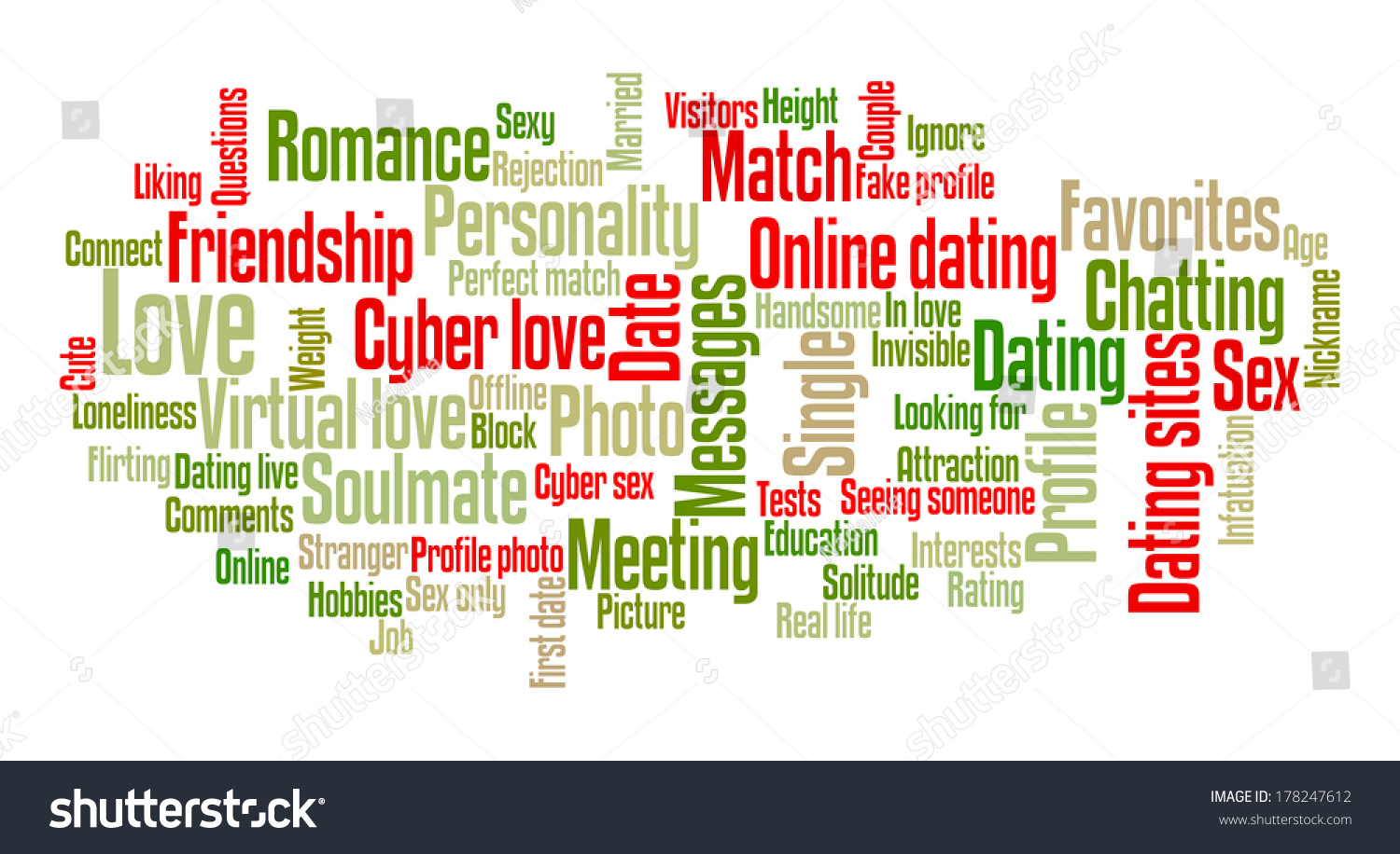 Words associated with dating
