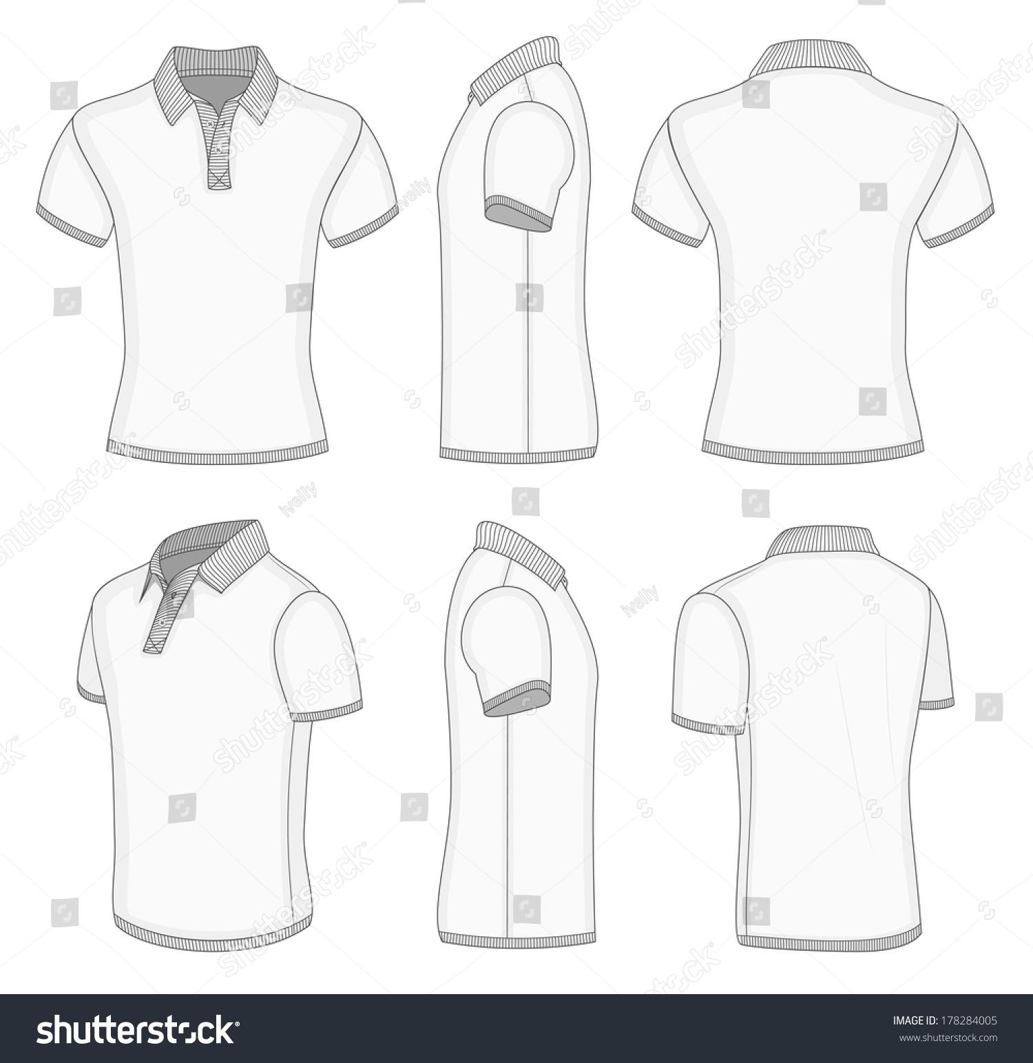 Collar T Shirt Design Template Illustrator Lauren Goss