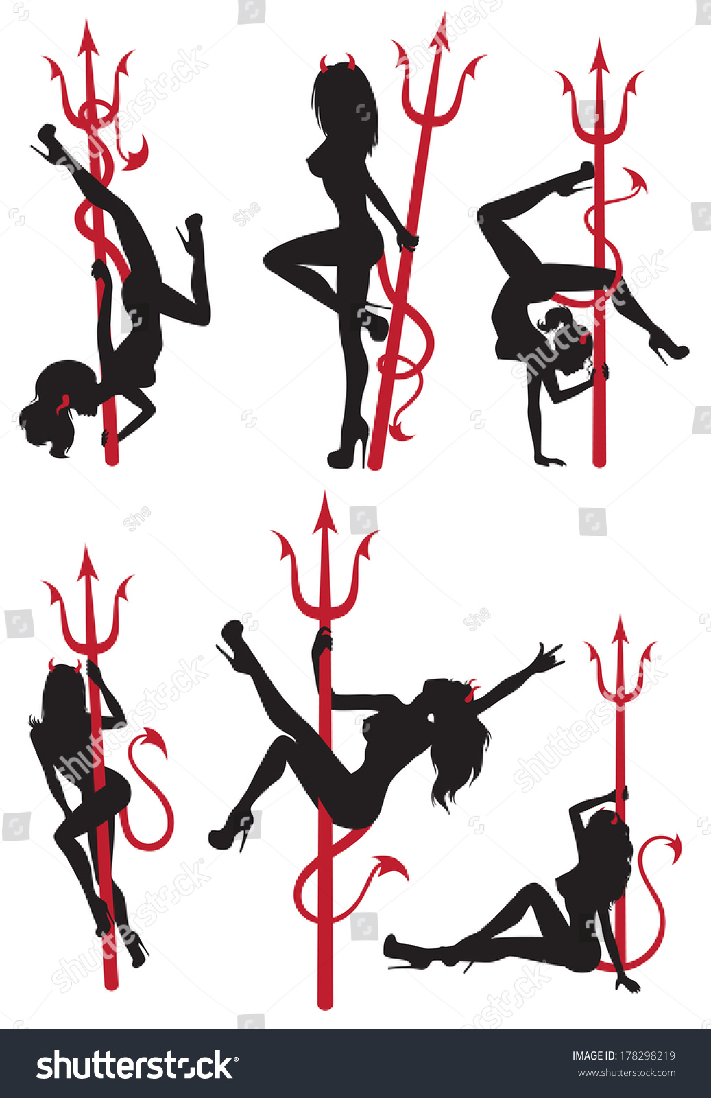 Collection Set Beautiful Sexy Pole Dance Stock Vector 178298219 - Shutterstock-4141