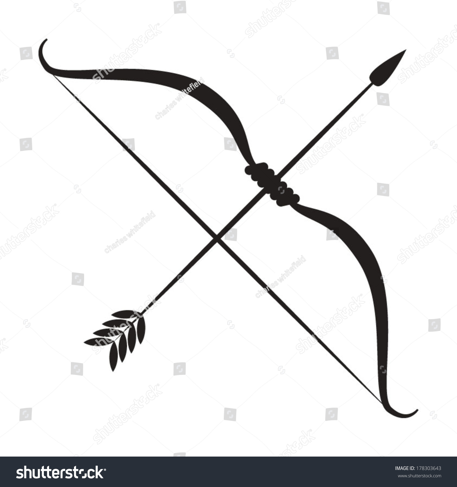 Bow And Arrow Stock Vector 178303643 : Shutterstock