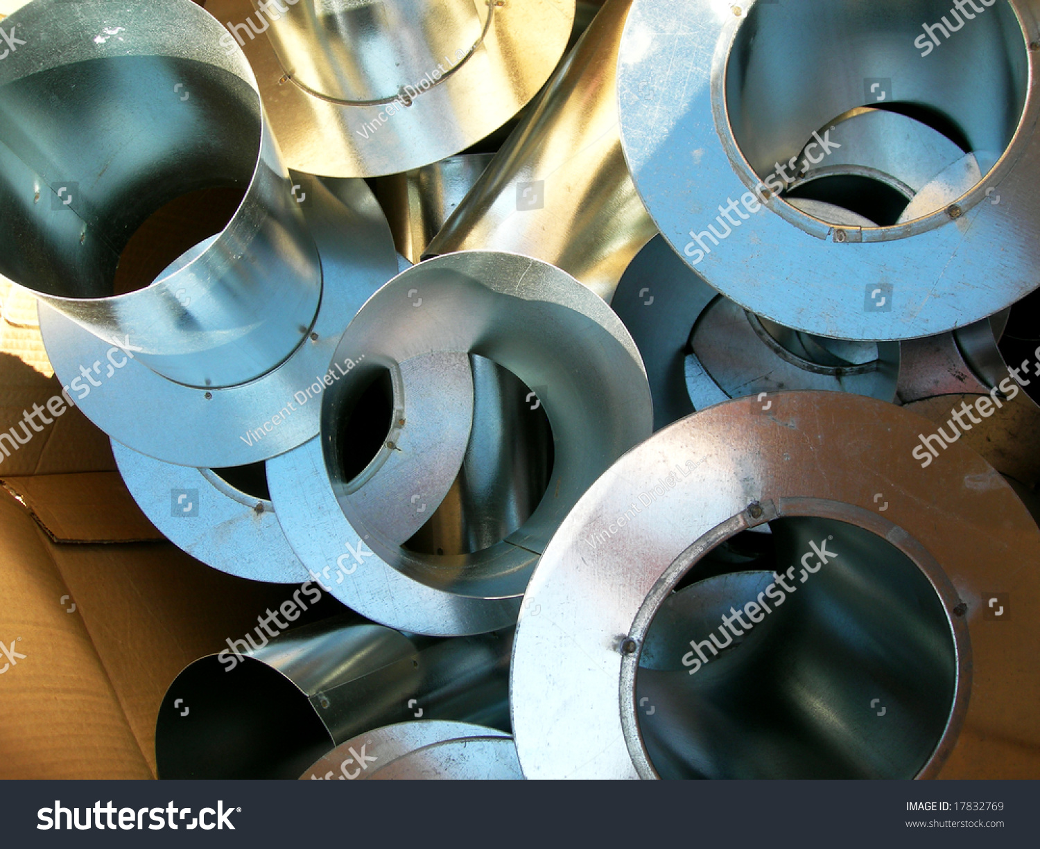 Steel pipe design in a cartoon box with sun colors stock