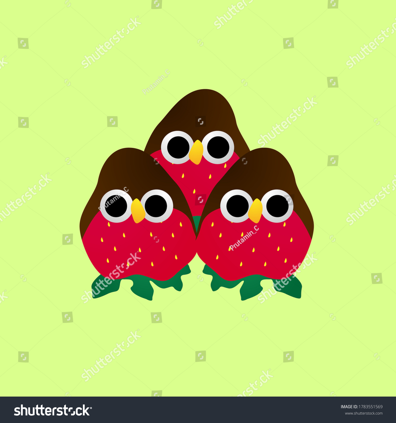 bird, Cute baby animal character illustration for kid t-shirt design or background