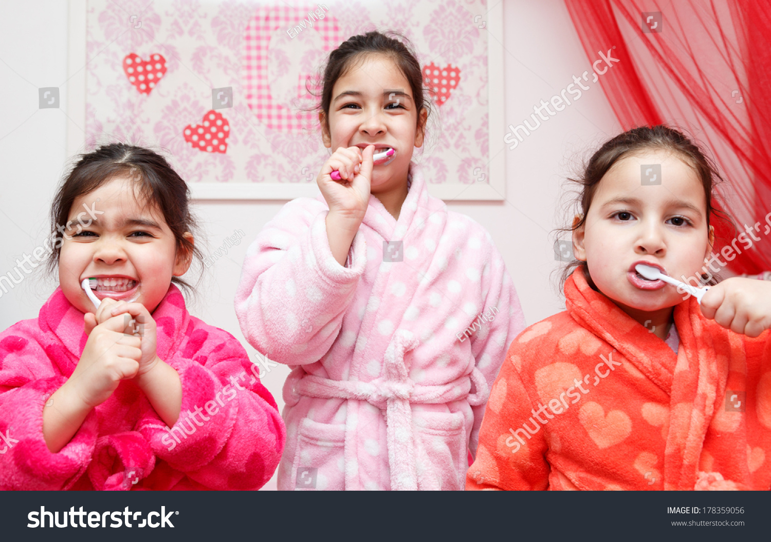 Three Young Children Dressed Colourful Dressing Stock Photo (Royalty ...