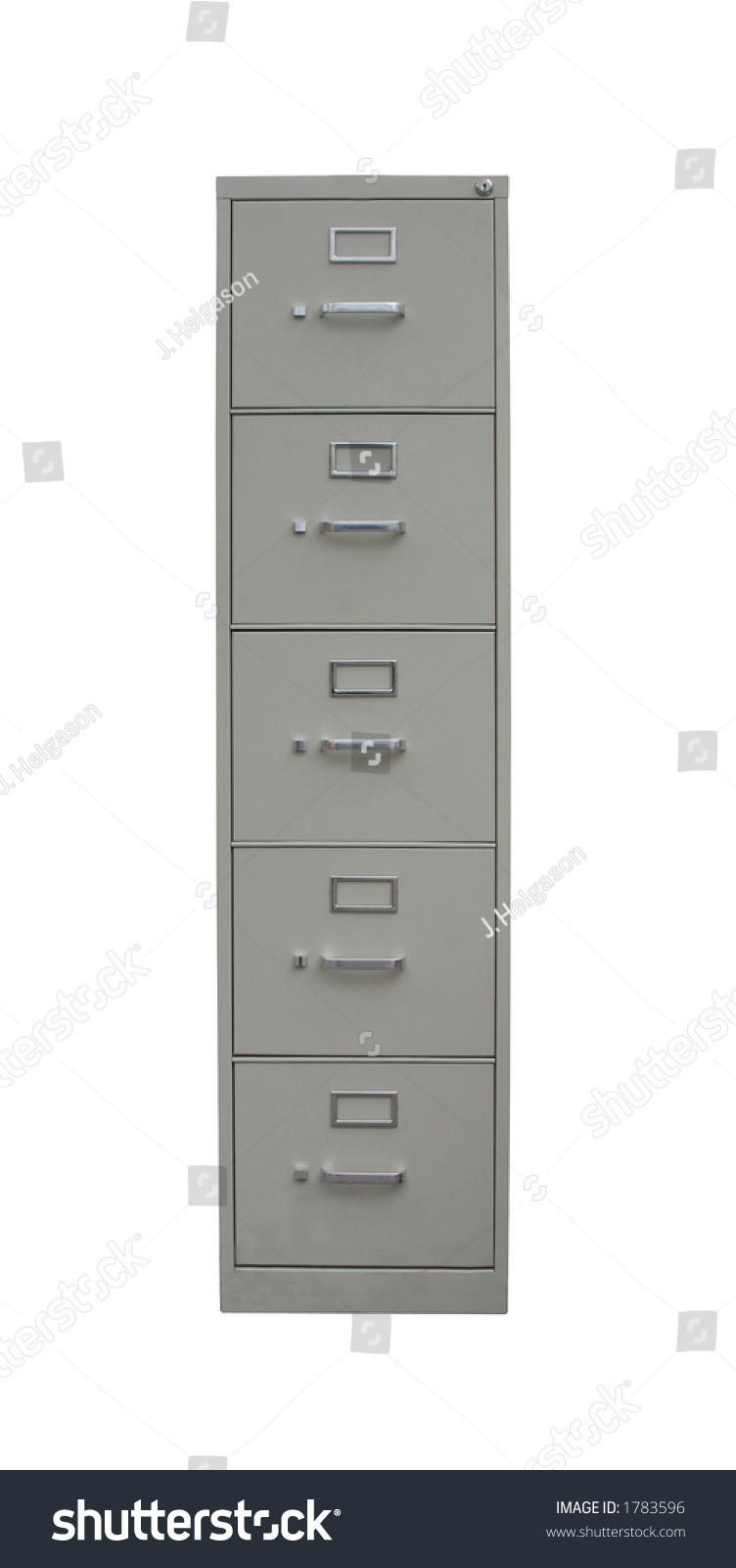Traditional Filing Cabinet Clipping Path Isolated Stock