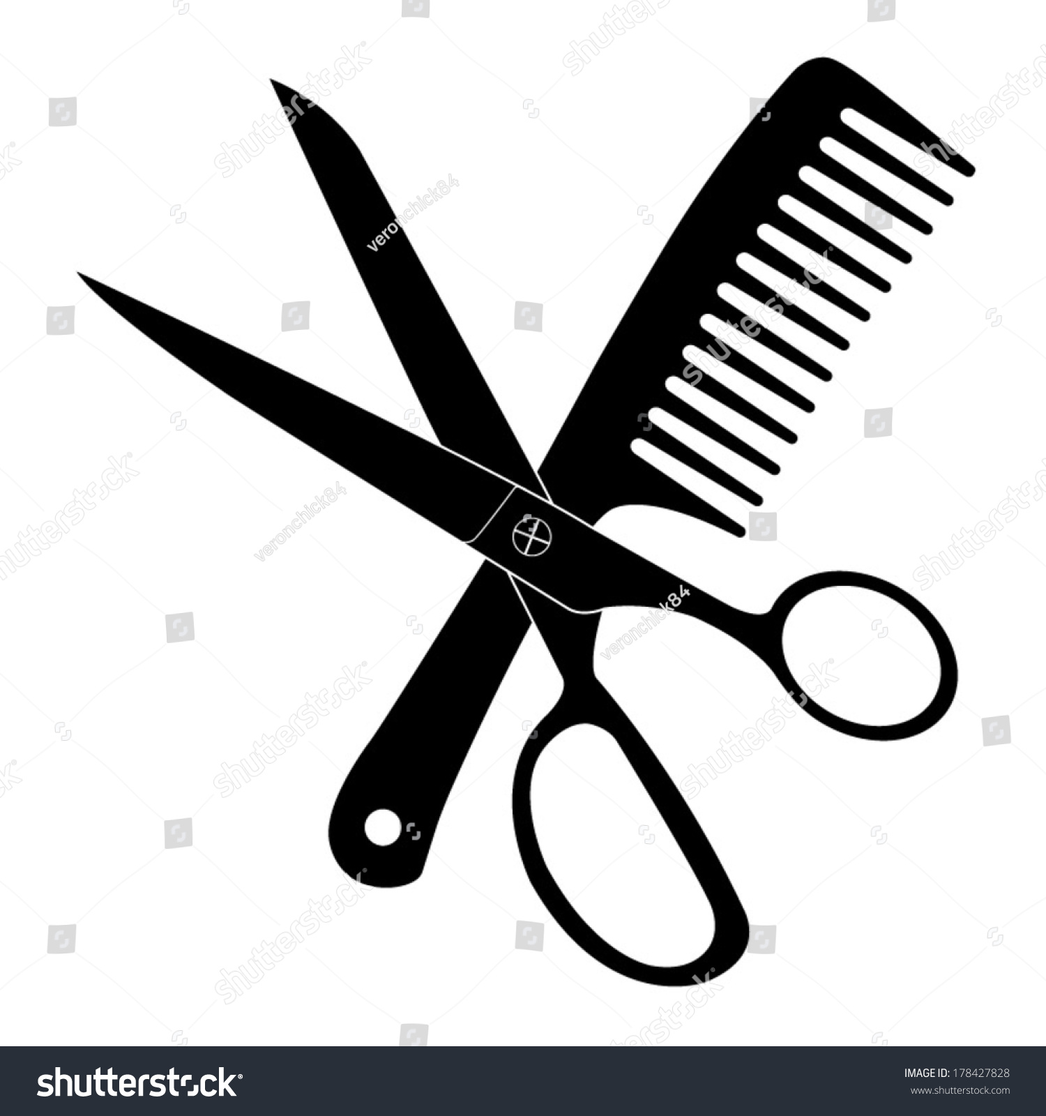 hair stylist scissors vector - photo #20