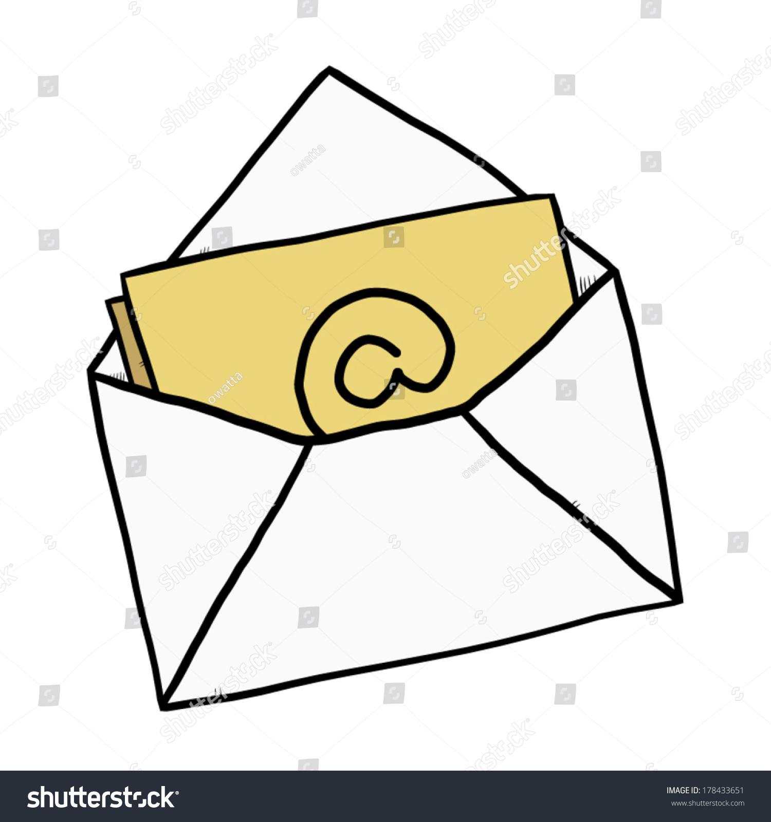 email envelope cartoon vector illustration hand stock