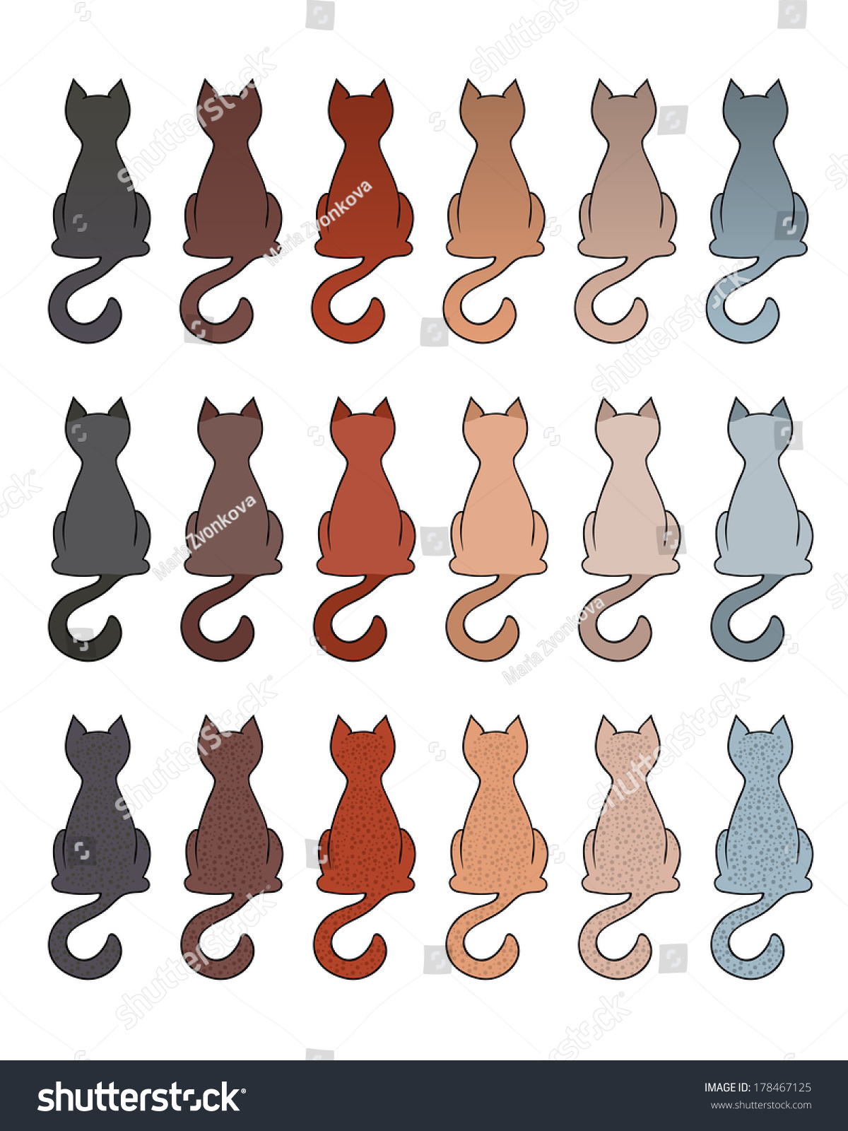 Color of cats fur - Color Of Cats Fur Set Of Cat Fur Color Coats Types Of Tabby In Different