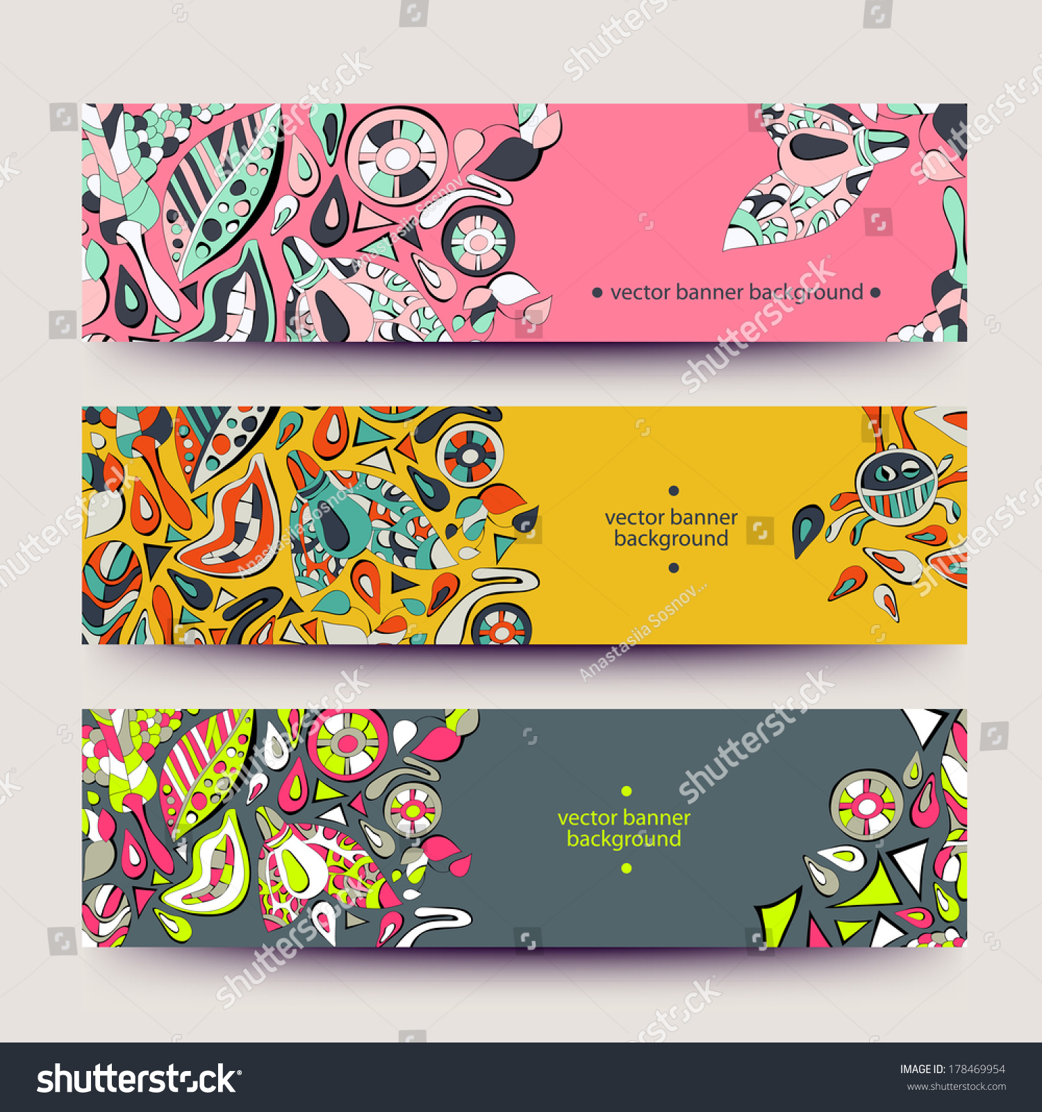 Banners business cards labels tags unique stock vector 178469954 banners for business cards labels tags unique design and interesting solutions hand magicingreecefo Gallery