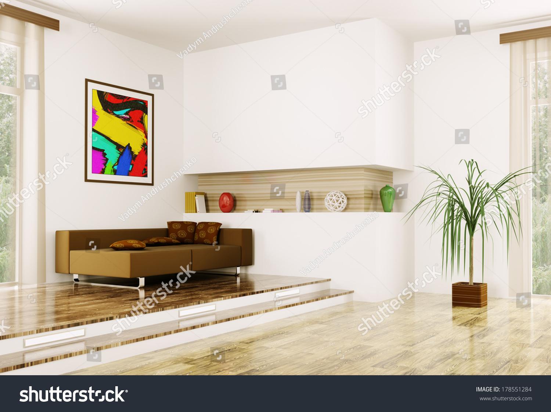 Modern Interieur Wit : Interior modern room wit sofa 3 d stock illustration 178551284