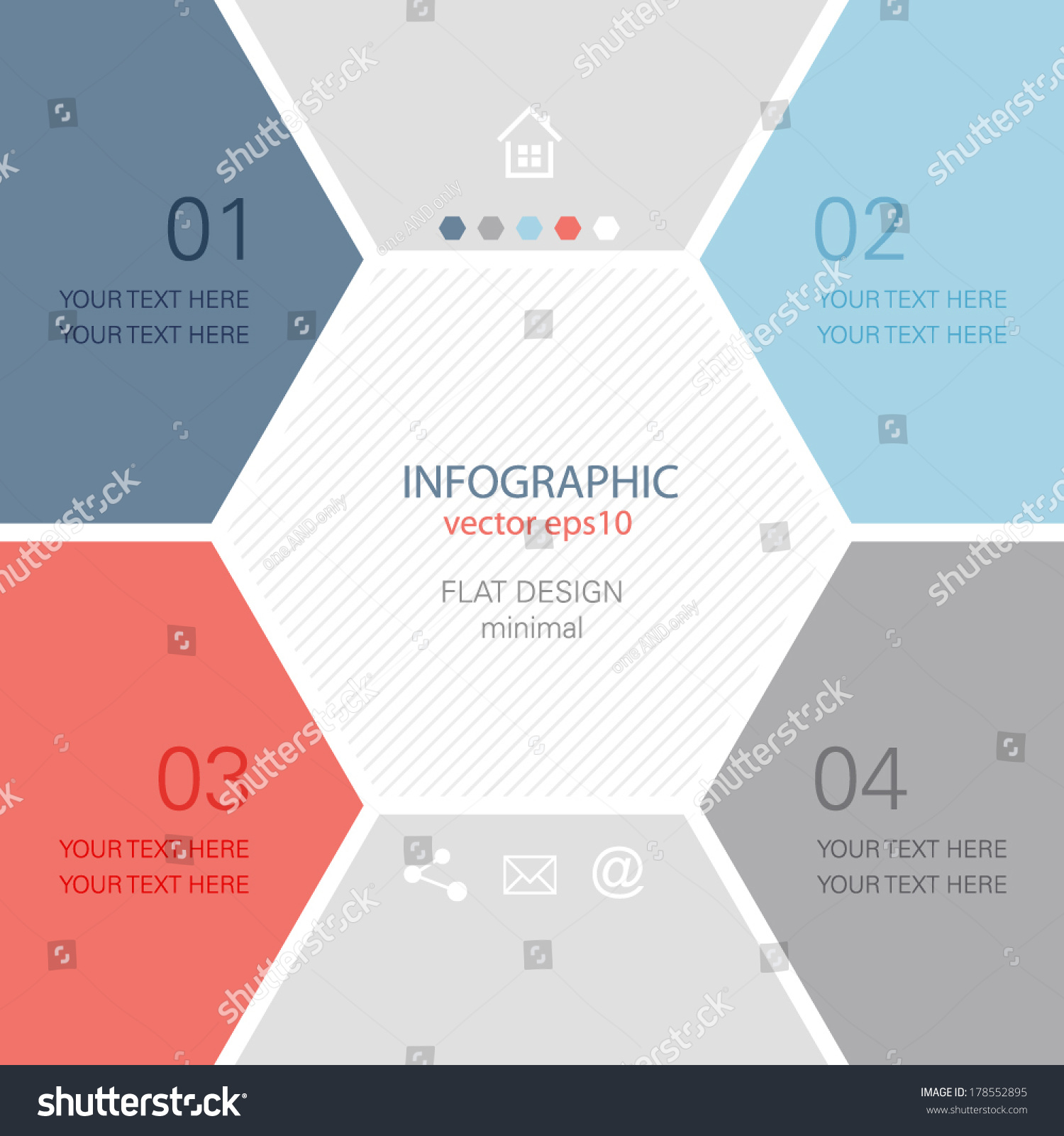 Info graphic design minimal hexagon brochure stock vector for Graphic design brochure templates