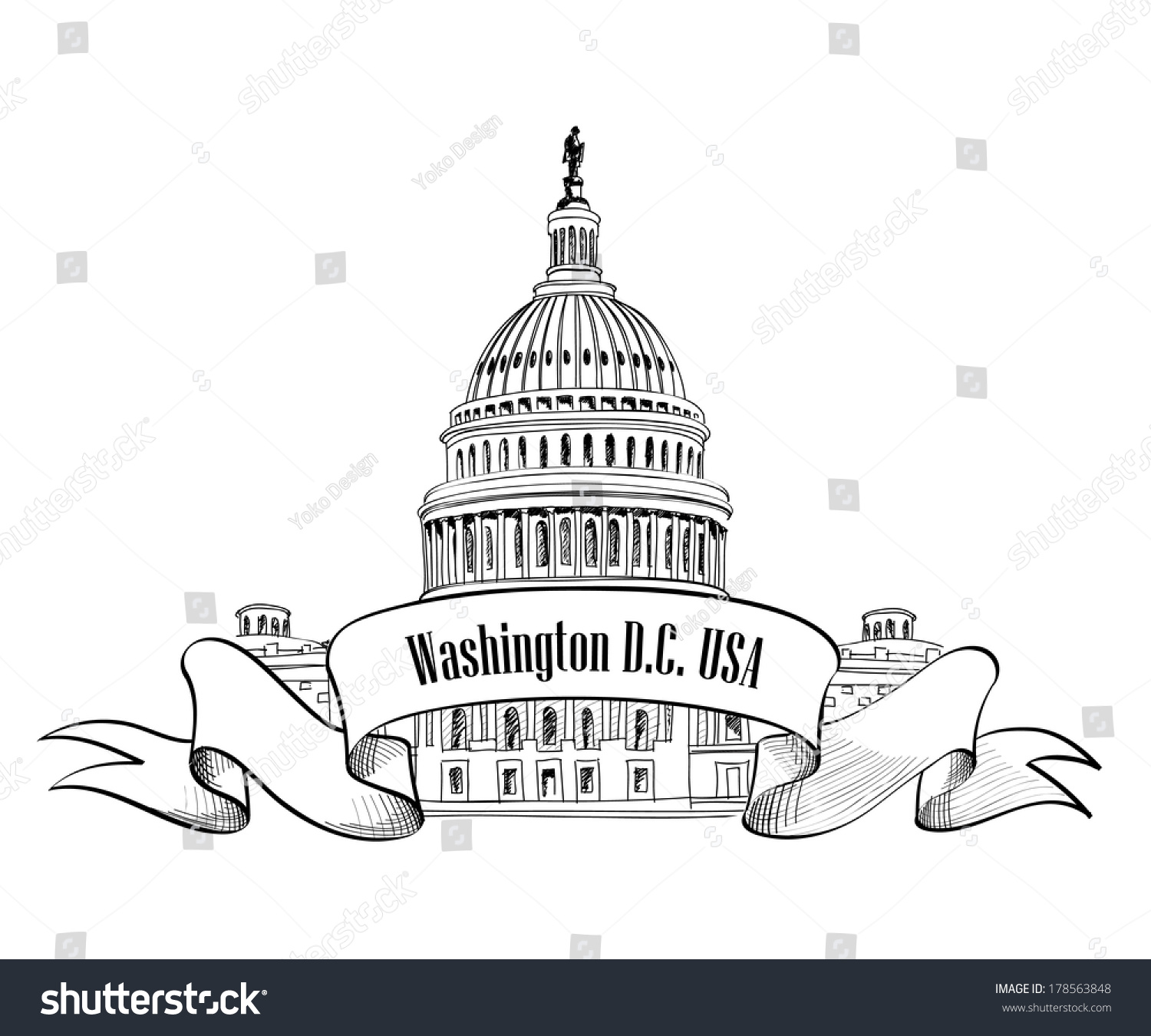 Capitol Building Coloring Page