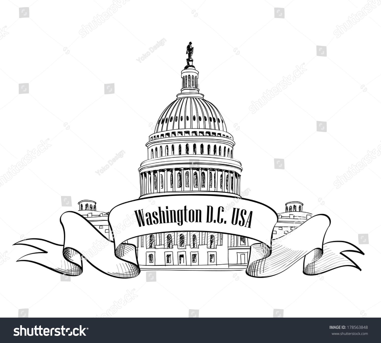 U S Map Government Building Symbols