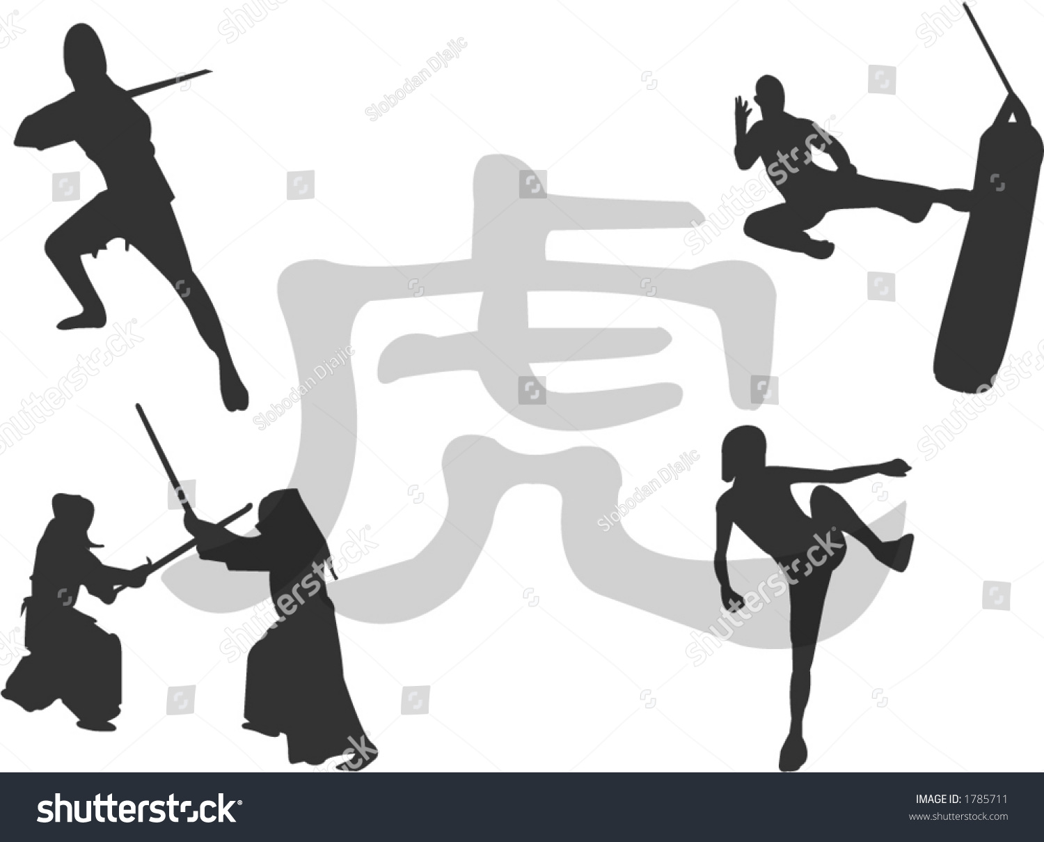Martial arts illustration symbol tiger background stock vector martial arts illustration symbol of tiger in background biocorpaavc