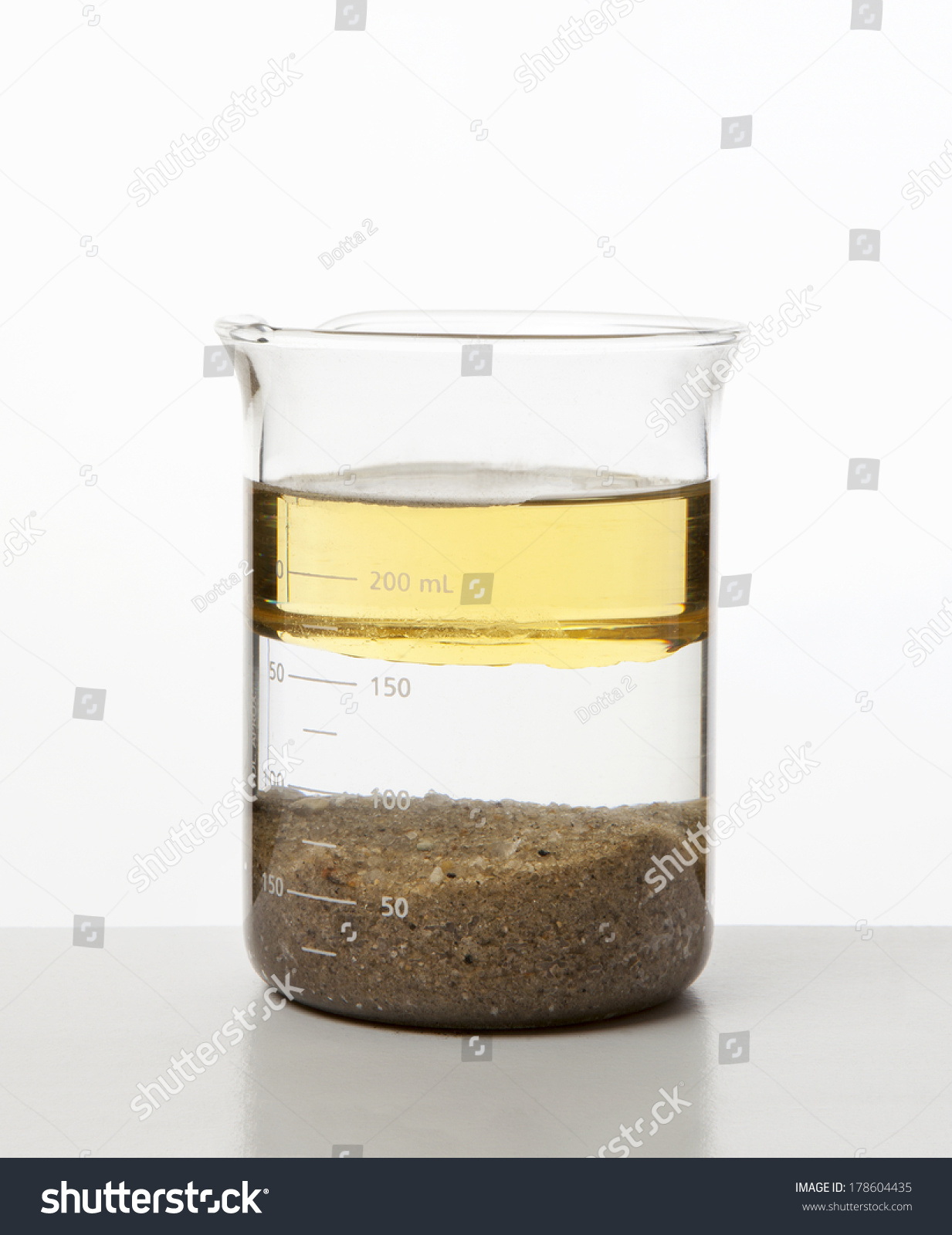 Heterogeneous Mixture Water Oil Sand Stock Photo 178604435 ...