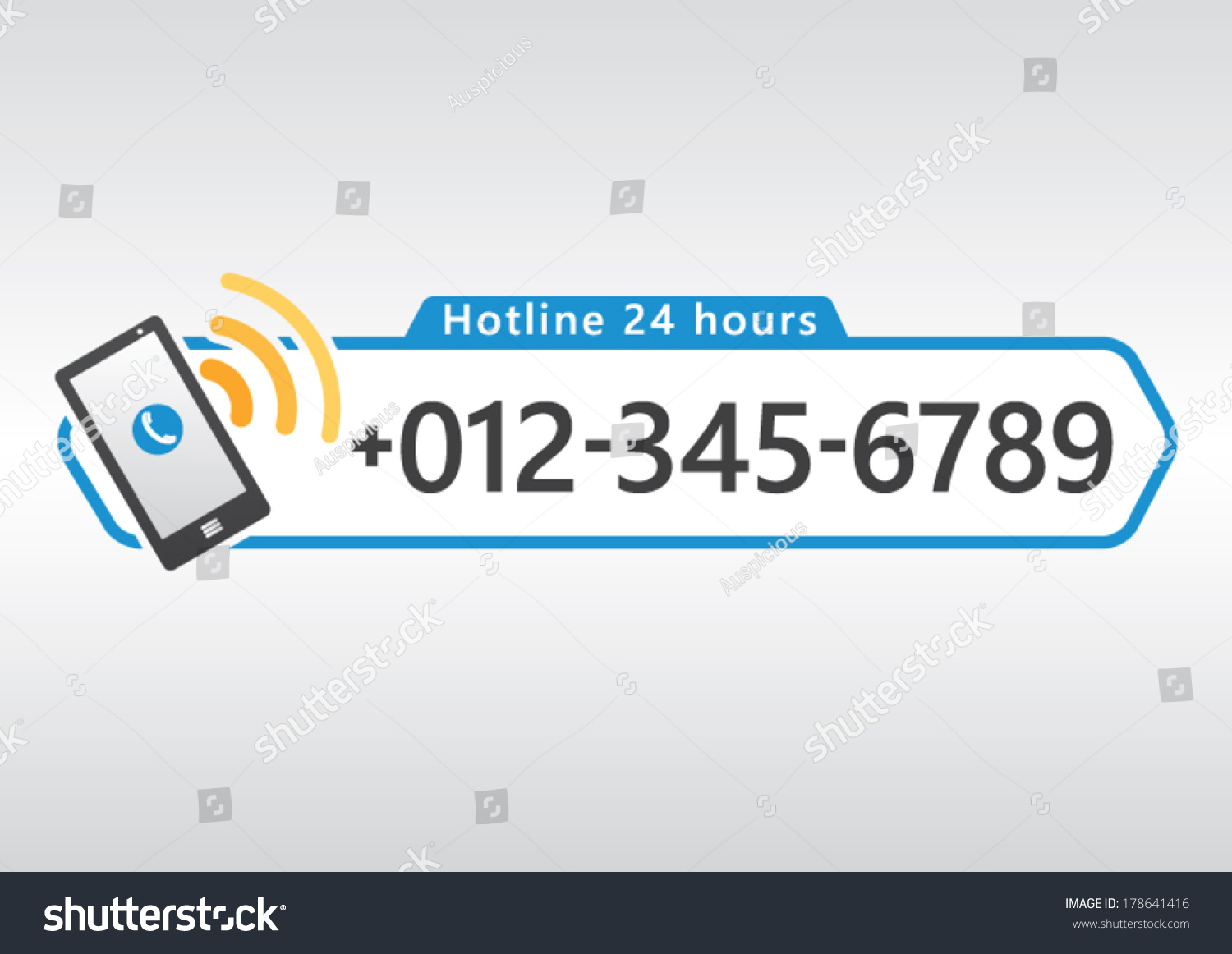 Hotline cell phone icon number design stock vector 178641416 hotline cell phone icon with number design for app or website vector illustration biocorpaavc
