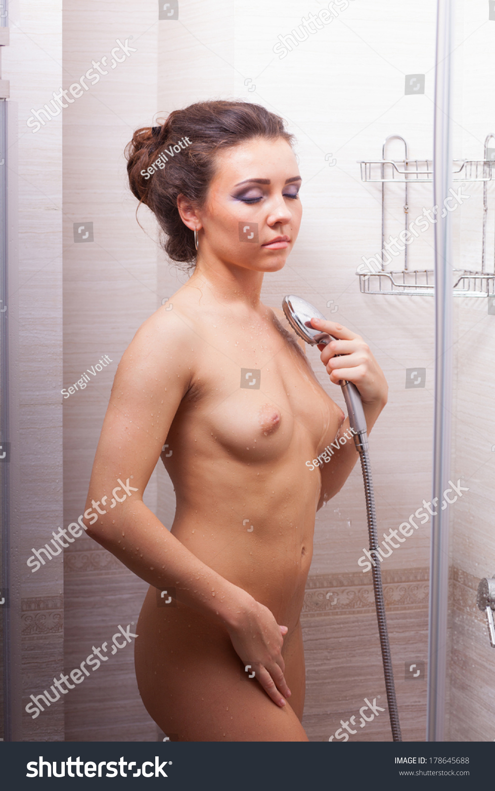 Girls naked taking a shower