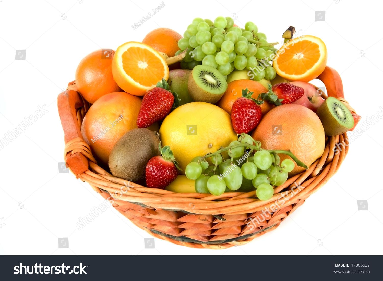 Foodesign Fresh Fruit Basket: Fresh Fruit Basket Stock Photo 17865532