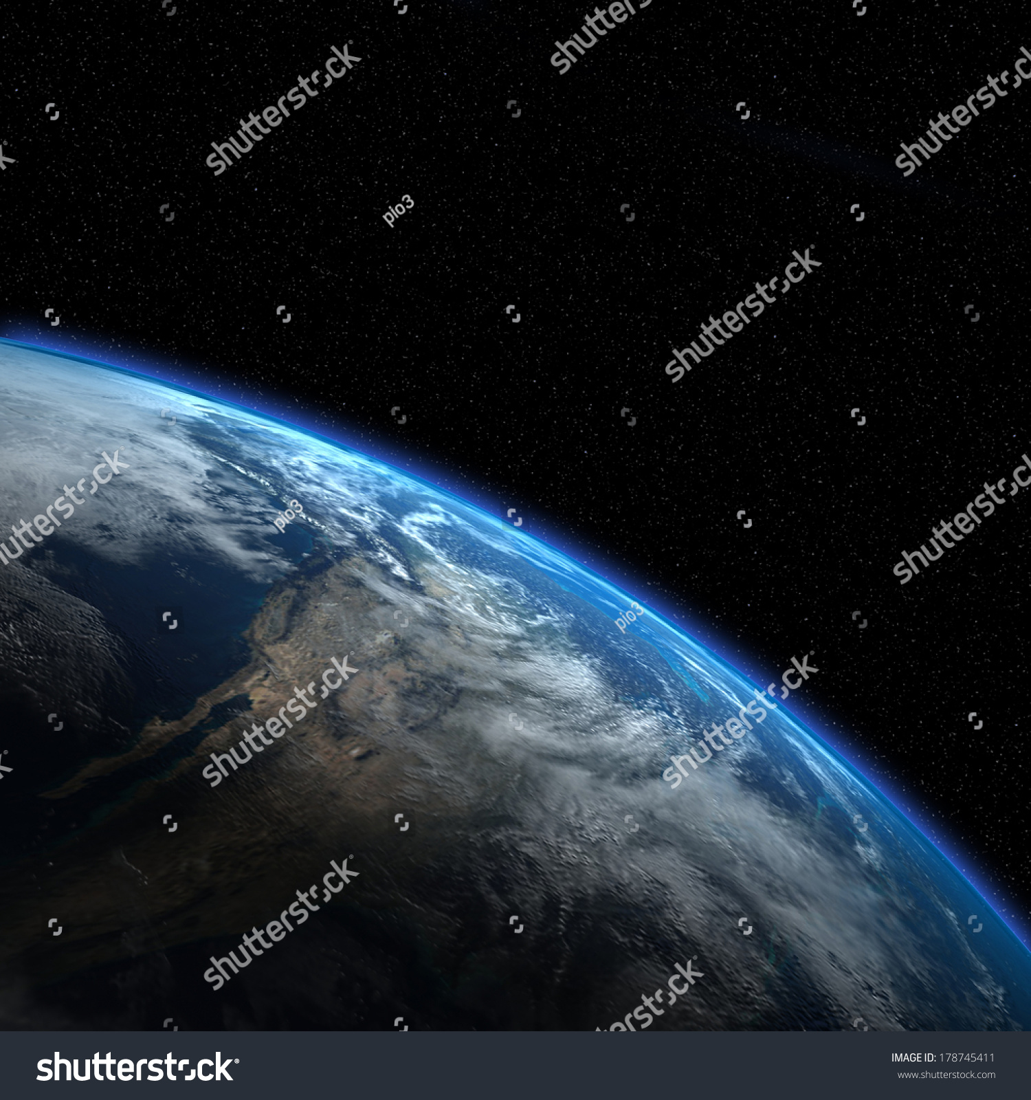 Earth view from outer space elements of this image for Outer space elements