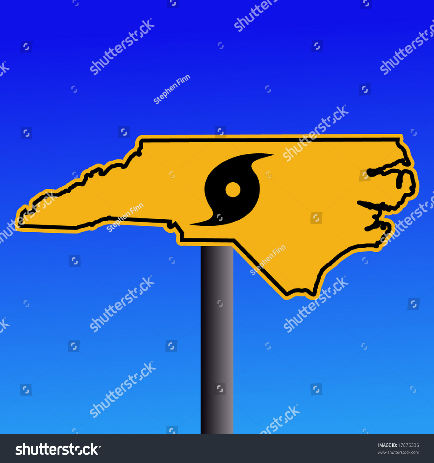 North Carolina Warning Sign Hurricane Symbol Stock Vector 17875336 ...