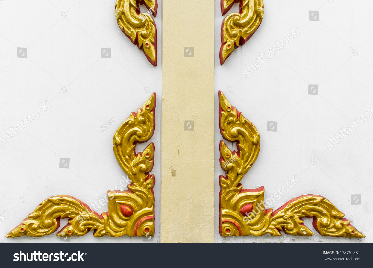 Abstract Old High Relief Golden Red Stock Photo 178761881 - Shutterstock