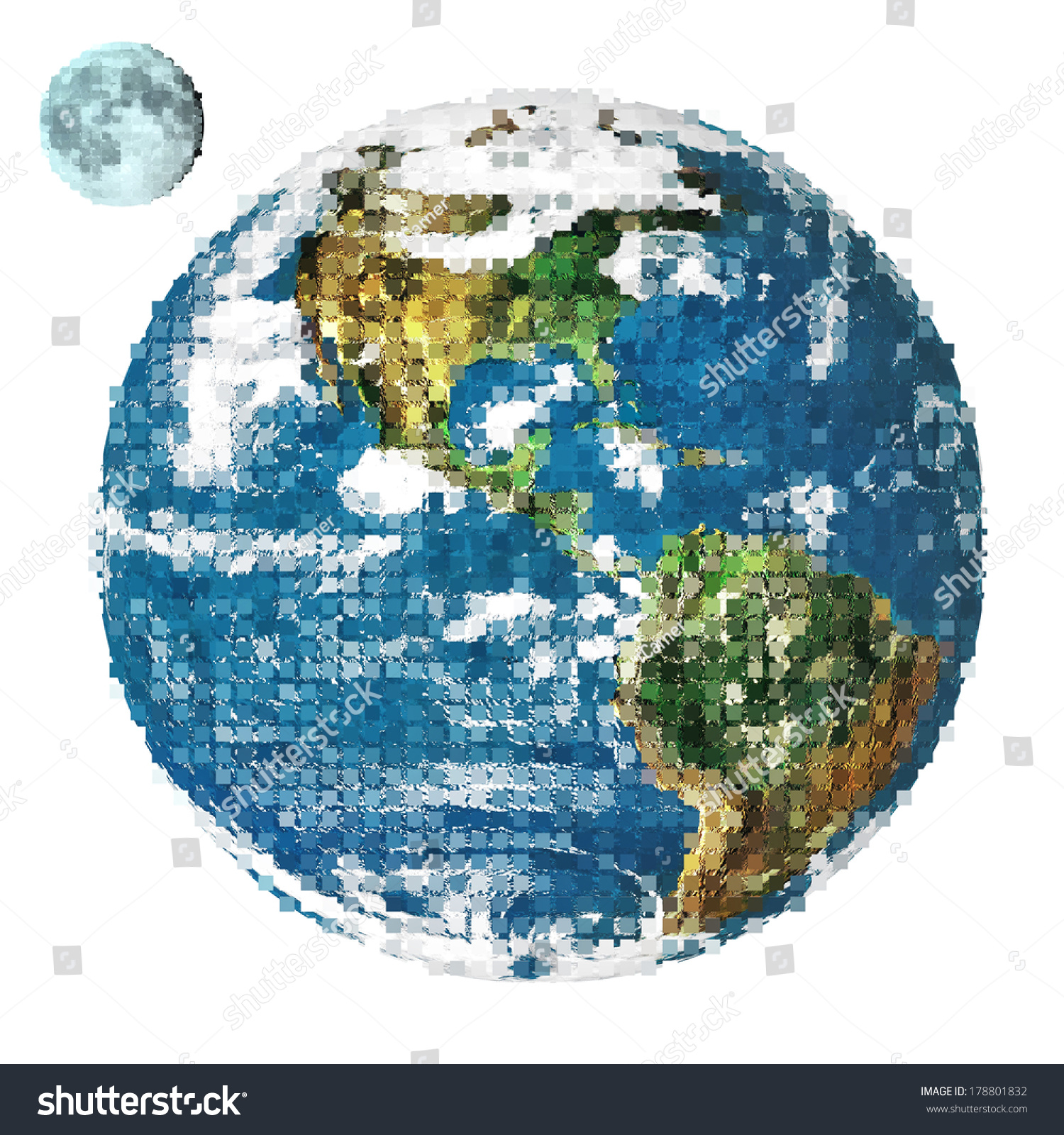 Stylized image earth lunar moon created stock photo for Why was nasa created