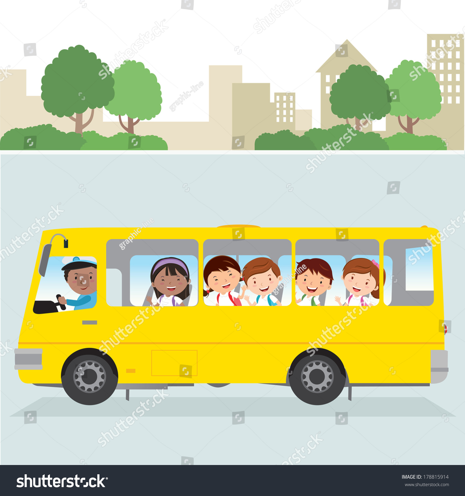 School Bus Vector Illustration School Bus Stock Vector