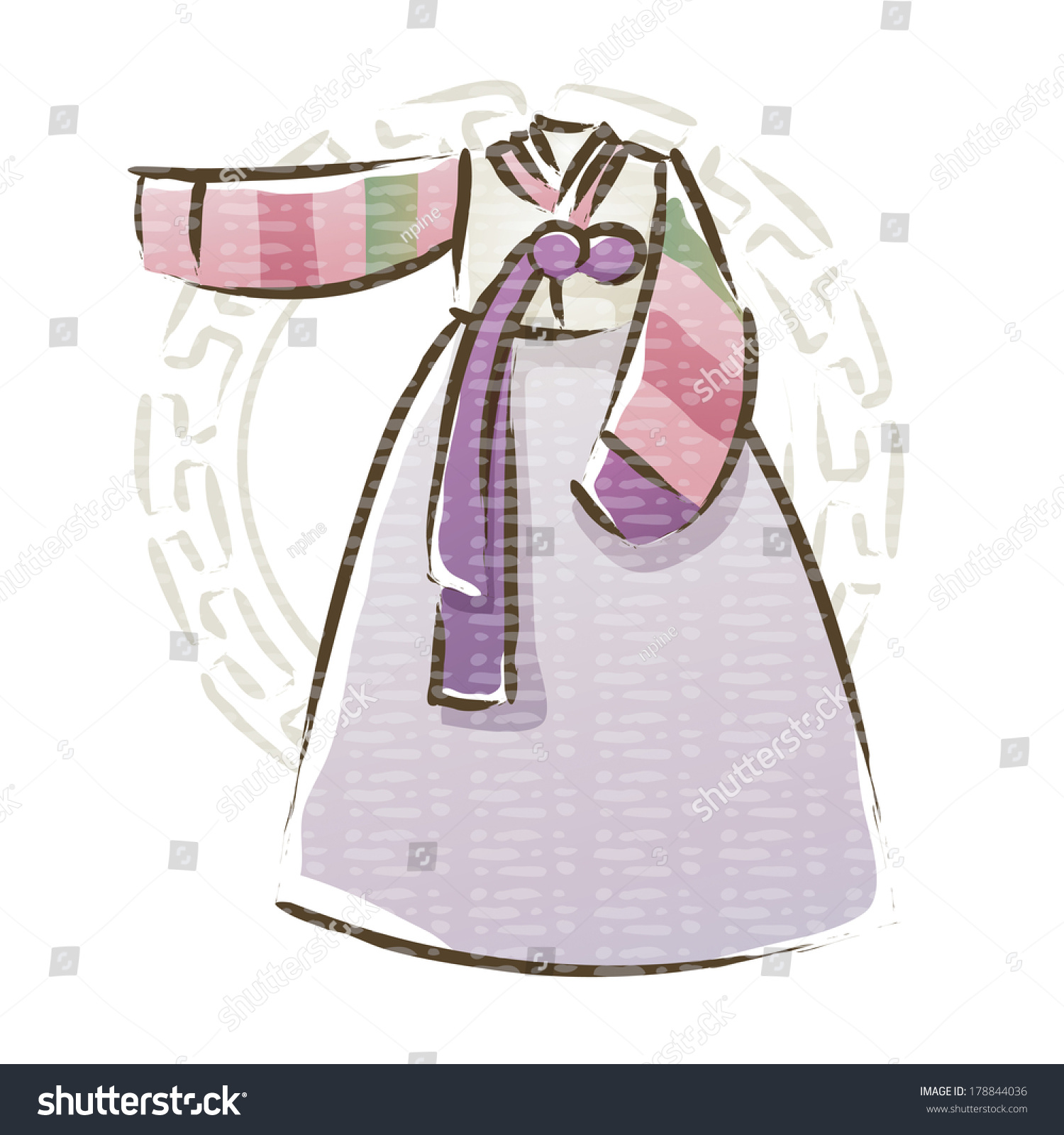 Hanbok korean traditional women clothes stock photo 178844036