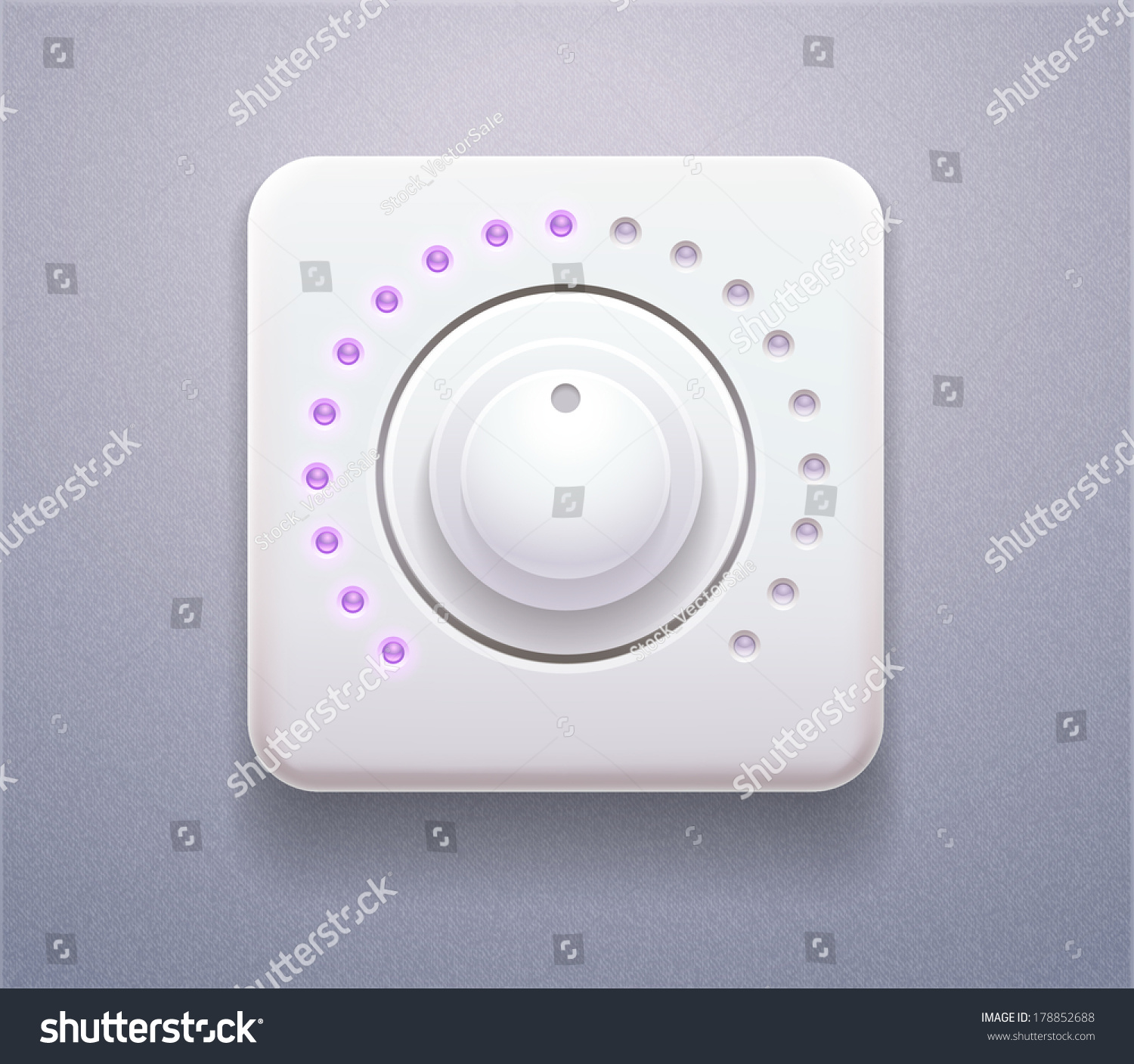 Volume Sound Control Panel : Vector stock realistic icon of control panel for time