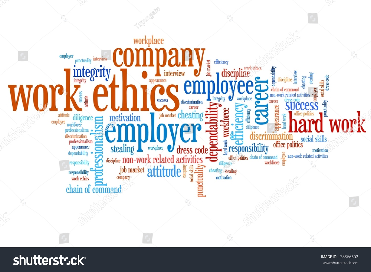 work ethics issues concepts word cloud stock illustration work ethics issues and concepts word cloud illustration word collage concept