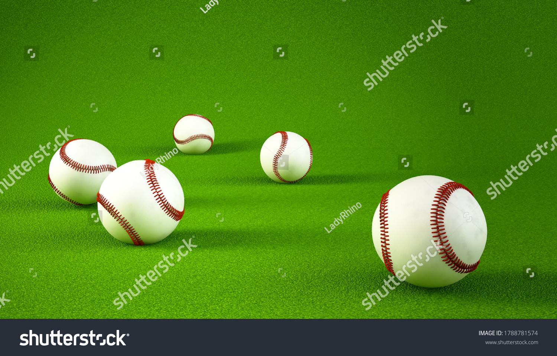 stock-photo-close-up-many-baseball-with-