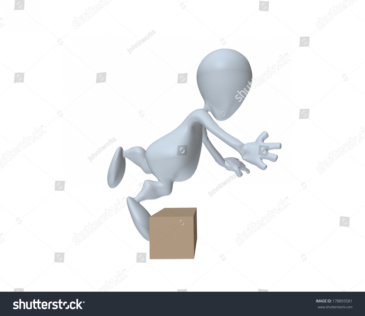 3d man tripping over box stock illustration 178893581 shutterstock 3d man tripping over box buycottarizona Gallery