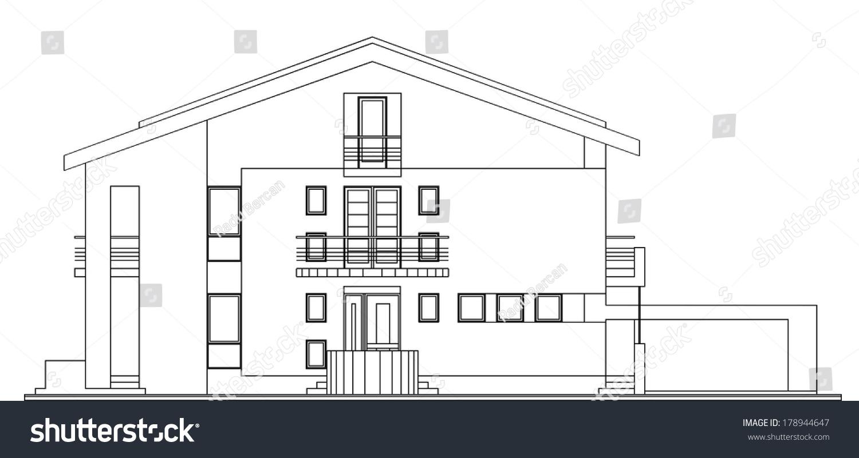 Modern classic american house facade architectural for American classic modern house